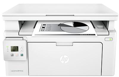 Как узнать общее количество напечатанных страниц МФУ HP M132?