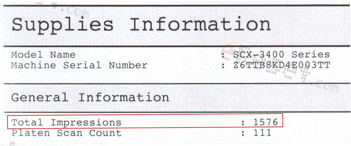 Supplies Information Samsung 3400