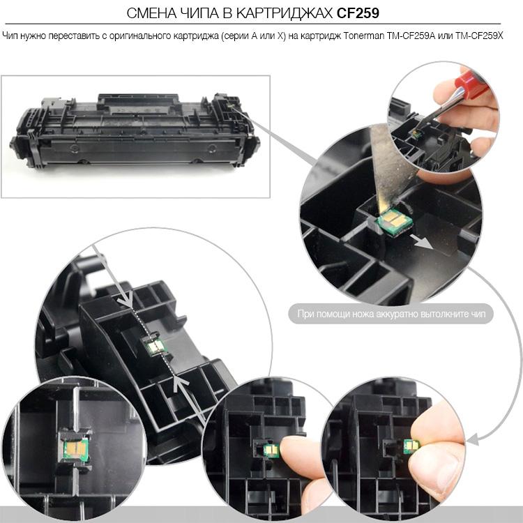 Замена чипа CF259A/X