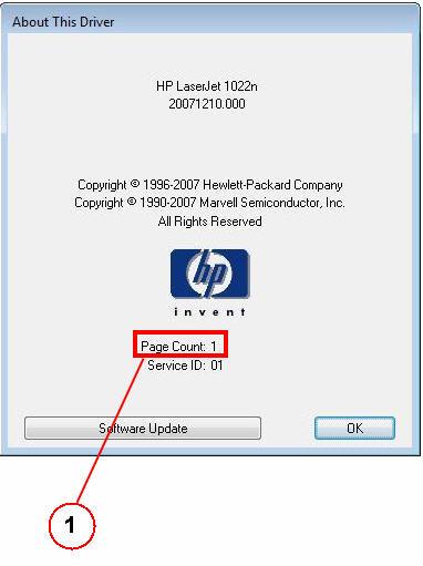 Счетчик страниц HP 1022